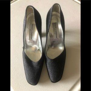 Dolce &Gabbana grey wool heels